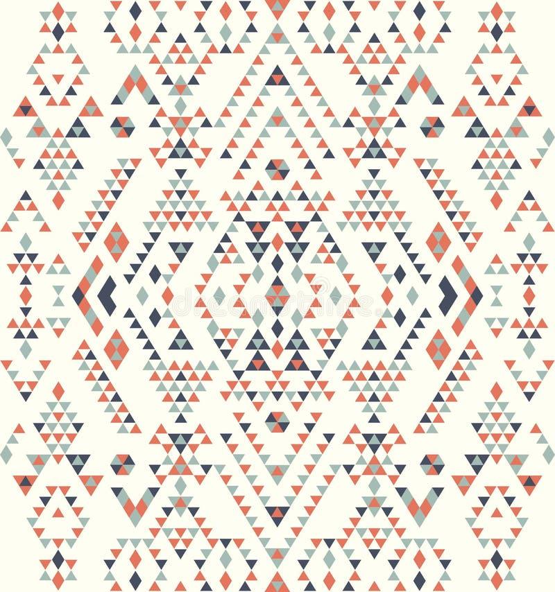 Textures ethniques sans couture de modèle Copie géométrique de Navajo abstrait Couleurs grises et oranges illustration libre de droits