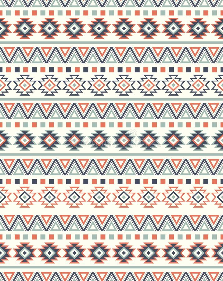 Textures ethniques sans couture de modèle Copie géométrique de Navajo abstrait Couleurs grises et oranges illustration stock