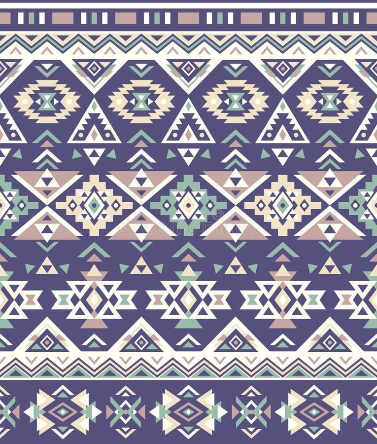 Textures ethniques sans couture de modèle Couleurs pourpres et jaunes Copie géométrique de Navajo illustration de vecteur
