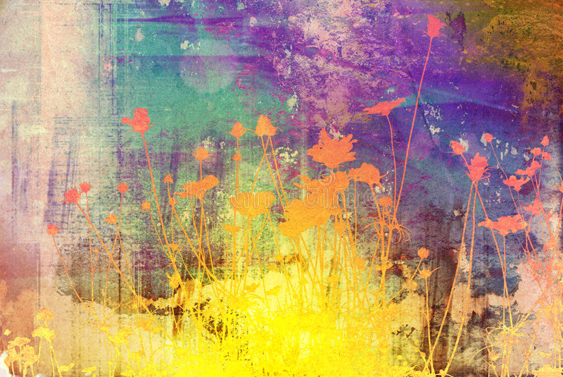 Textures florales illustration stock