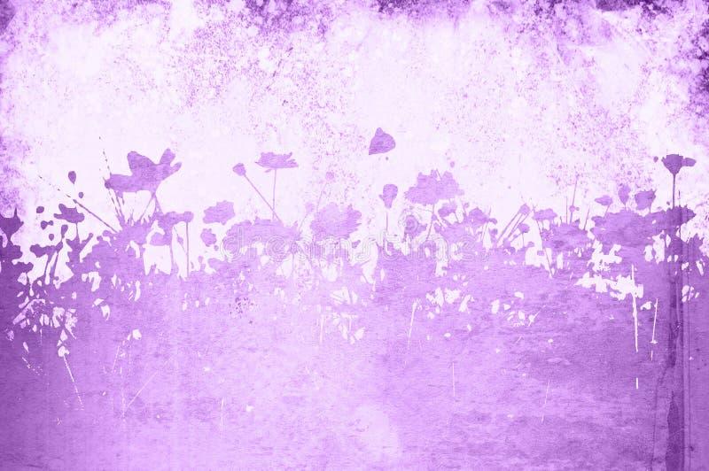 Textures florales illustration de vecteur