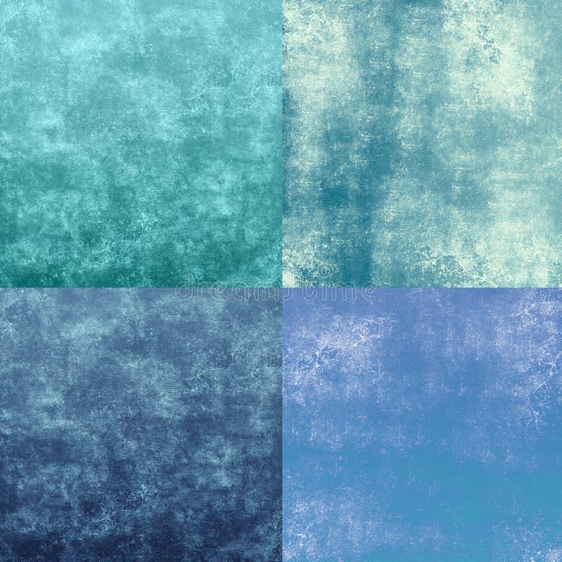 Textures grunges bleues illustration de vecteur