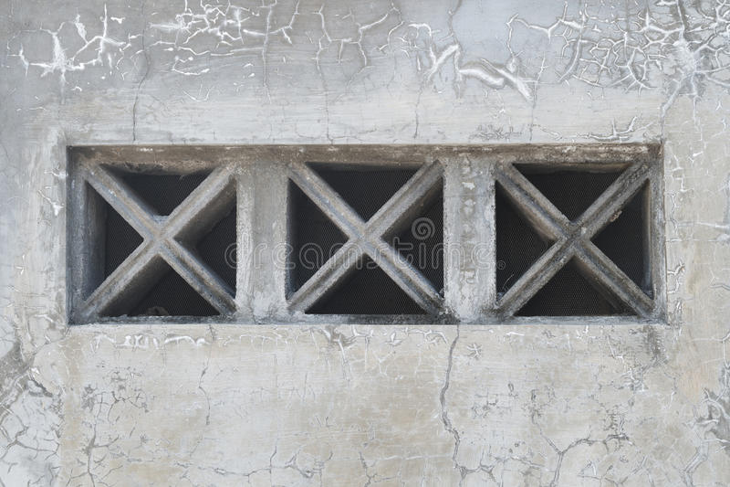 Textures grunges de mur avec le bloc de ventilation photo stock