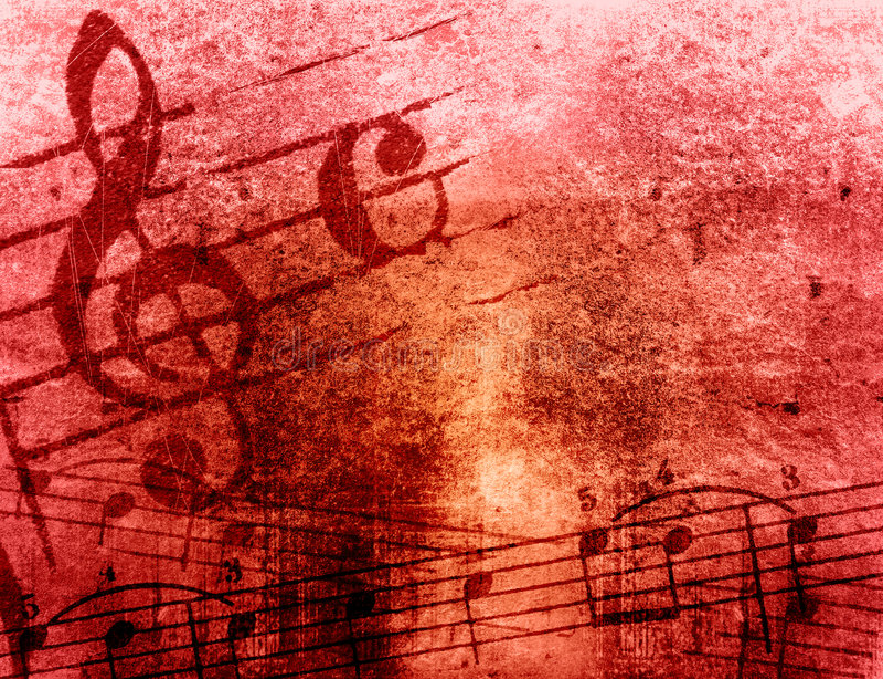Textures grunges et milieux de mélodie illustration libre de droits