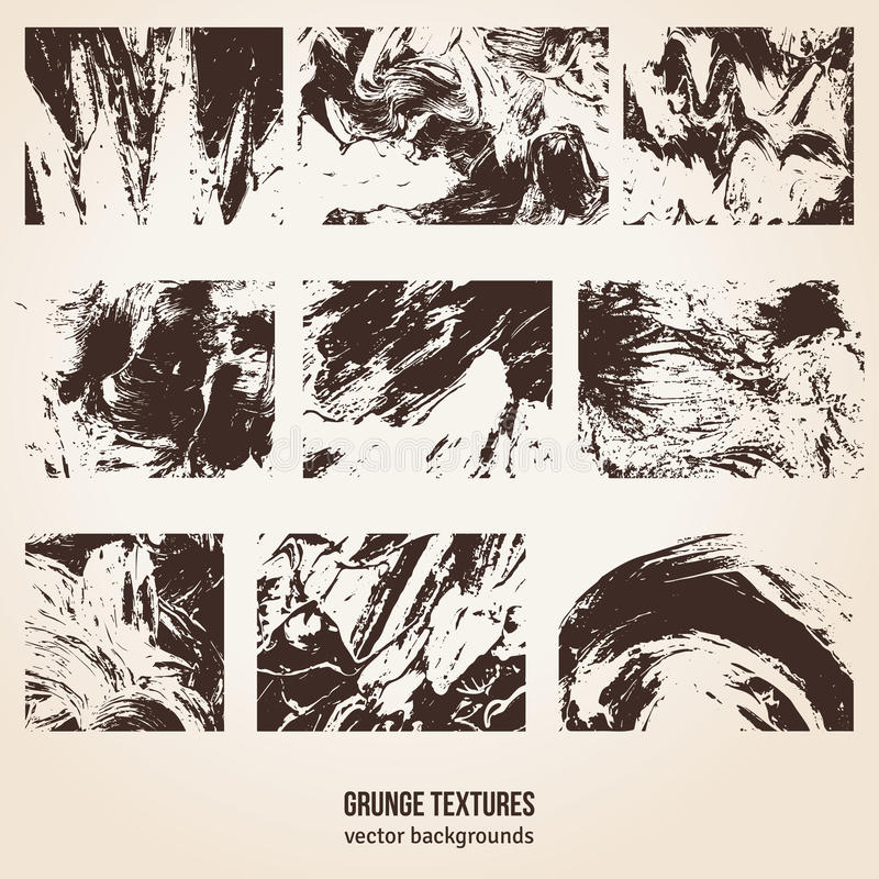 Textures grunges Illustration de vecteur illustration stock