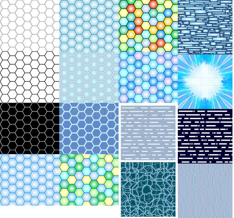 Download Textures Hi-tech Honeycombs Stock Illustration - Illustration: 2807225