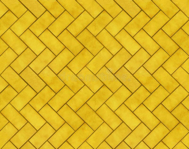 Textures jaunes de brique de Tileable illustration stock