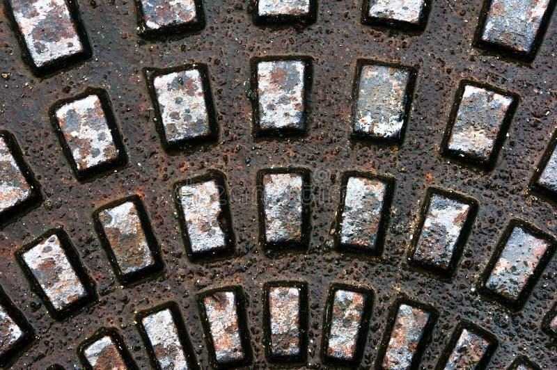 Textures métalliques sur l'égout images libres de droits