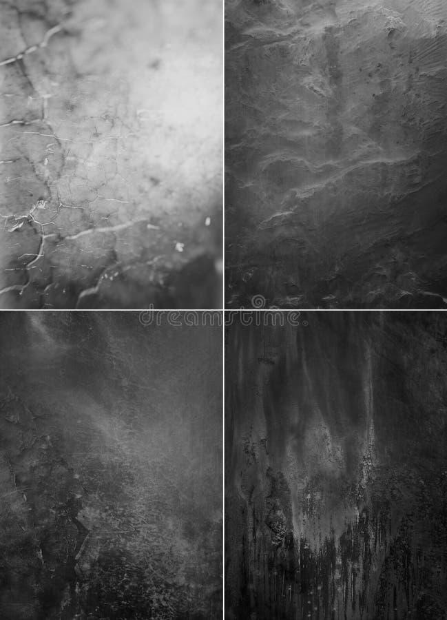 Textures noires et blanches abstraites de collection photos libres de droits