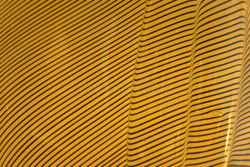 Textures ondulées jaunes et noires image stock