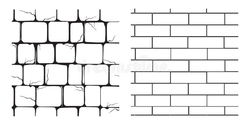 Textures sans joint de la maçonnerie illustration stock