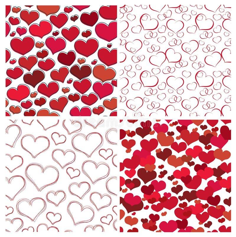 Textures sans joint de valentine illustration libre de droits