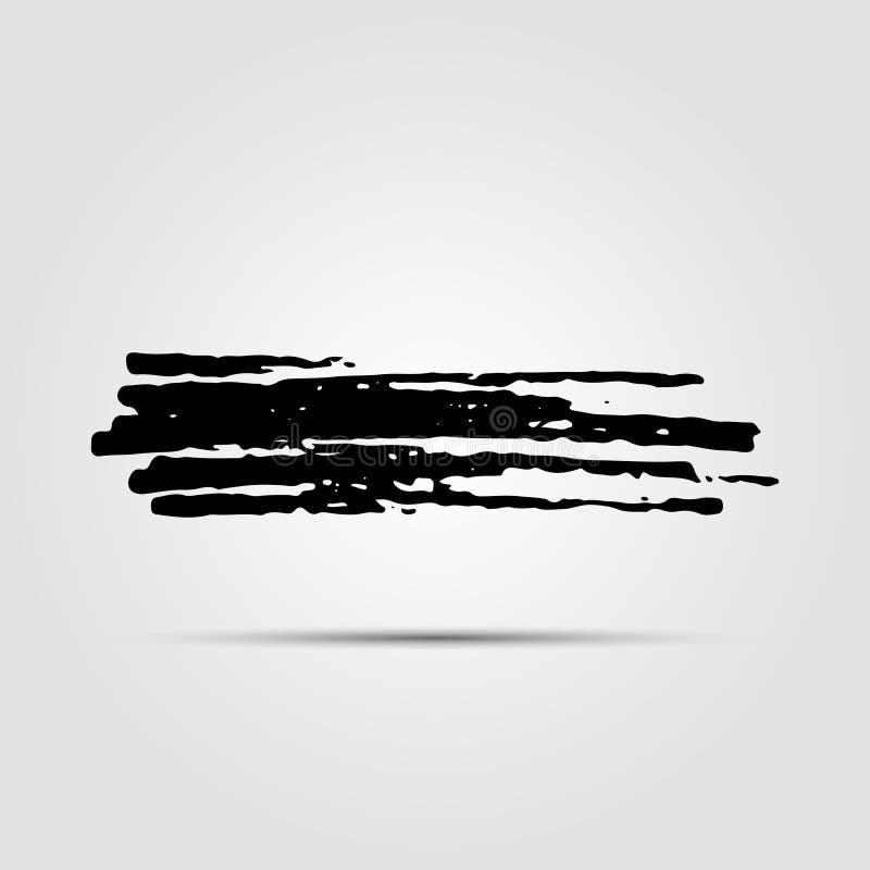 Textures tirées par la main modernes de grunge d'encre Calibre pour une carte de visite professionnelle de visite, bannière, affi illustration de vecteur