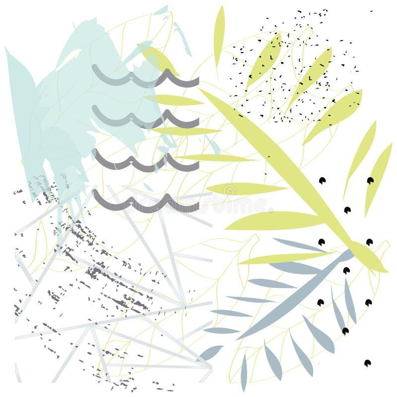 Textures tir?es par la main cr?atives Conception graphique ? la mode Vecteur Art contemporain illustration libre de droits