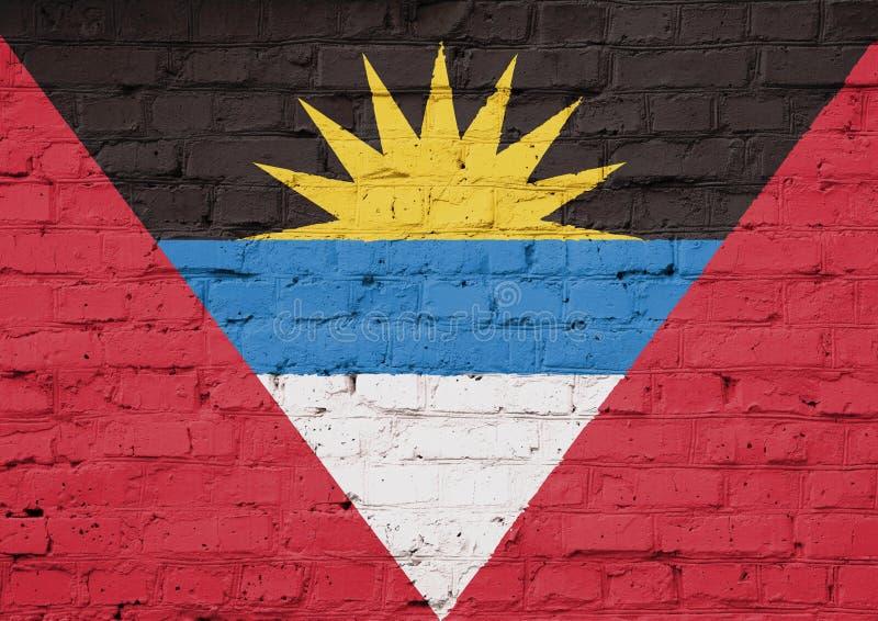 Texturflagga av Antigua royaltyfria bilder