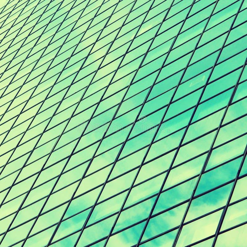 Texturice el fondo de las ventanas modernas del edificio, efecto del vintage foto de archivo libre de regalías