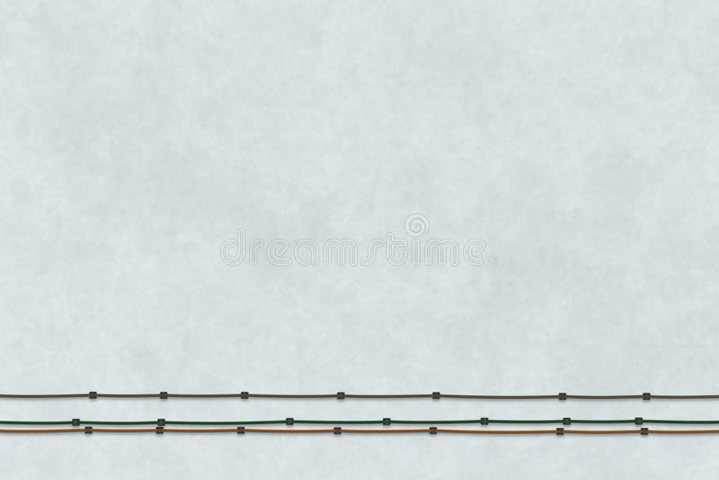Texturice el fondo del color gris en concepto mínimo Ejemplo plano de la endecha 3D stock de ilustración