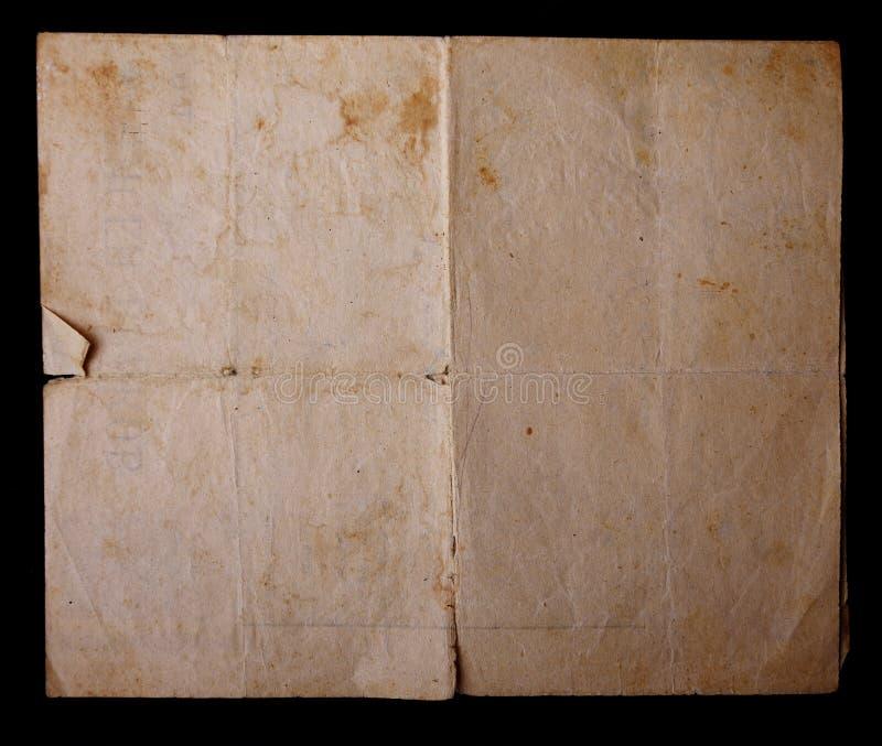 Texturice el papel amarilleado viejo vintage, papeles de escribir imagen de archivo libre de regalías
