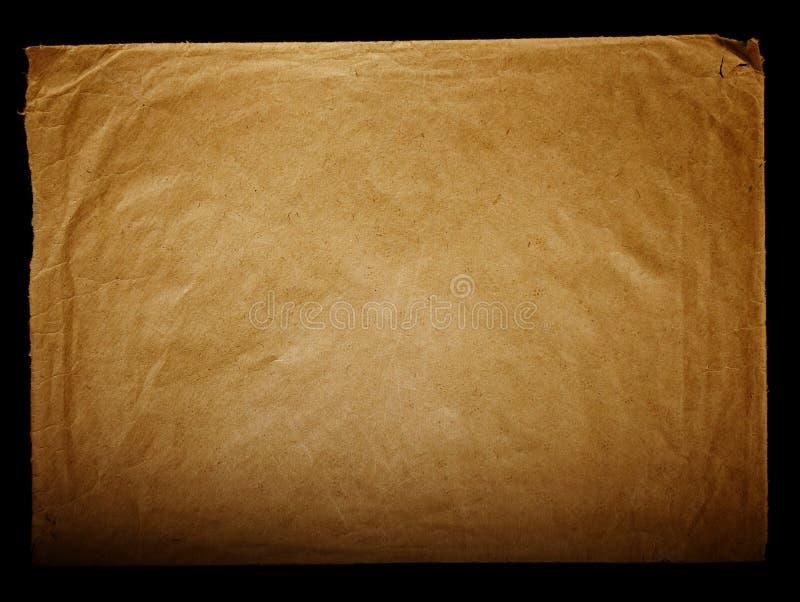 Texturice el papel amarilleado viejo vintage, papeles de escribir foto de archivo libre de regalías