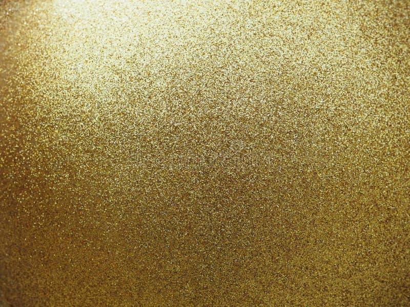 Texturisé de la boule ronde d'or avec le scintillement photo libre de droits