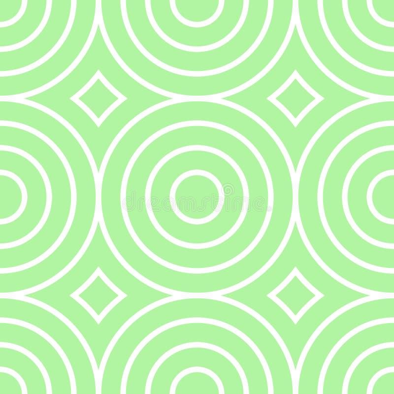 Texturisé fond sans couture formé rétro par cercle illustration libre de droits
