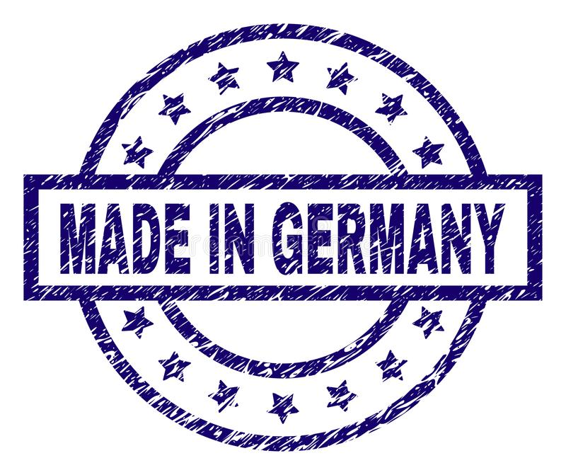 Texturisé grunge FAIT DANS le joint de timbre de l'ALLEMAGNE illustration libre de droits