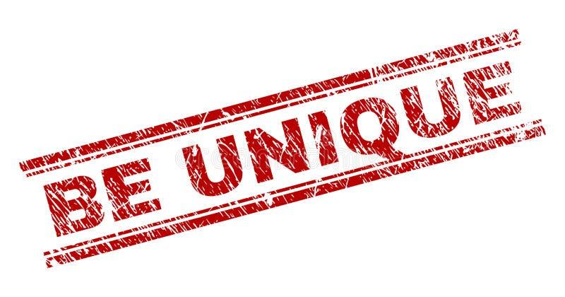 Texturisé grunge SOIT joint UNIQUE de timbre illustration de vecteur