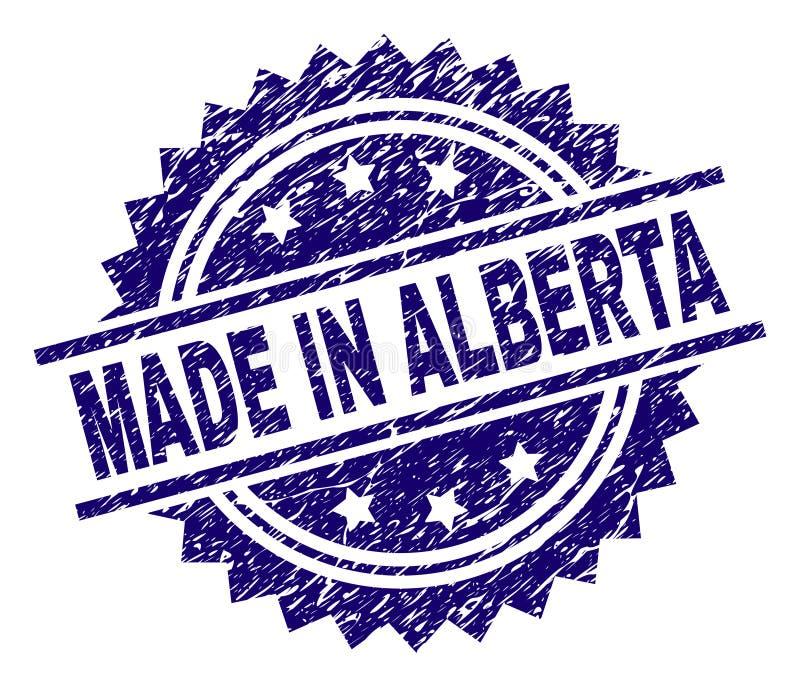Texturisé rayé FAIT EN ALBERTA Stamp Seal illustration de vecteur