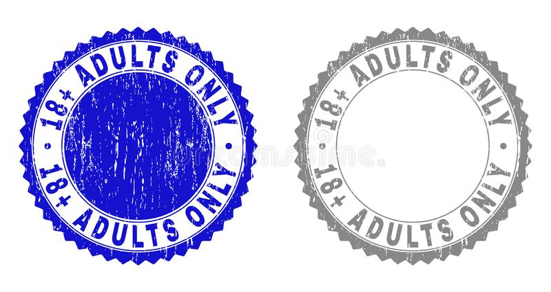 Texturisé 18 SEULS filigranes grunges d'ADULTES plus illustration libre de droits