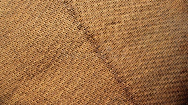Texturiza la cestería de bambú fotos de archivo