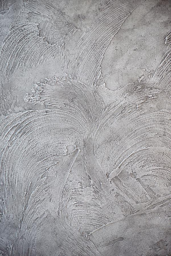 Texturized grey putty. Vintage or grungy background of venetian stucco texture as pattern wall. royalty free stock images