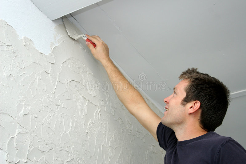 Texturizing Walll stock images