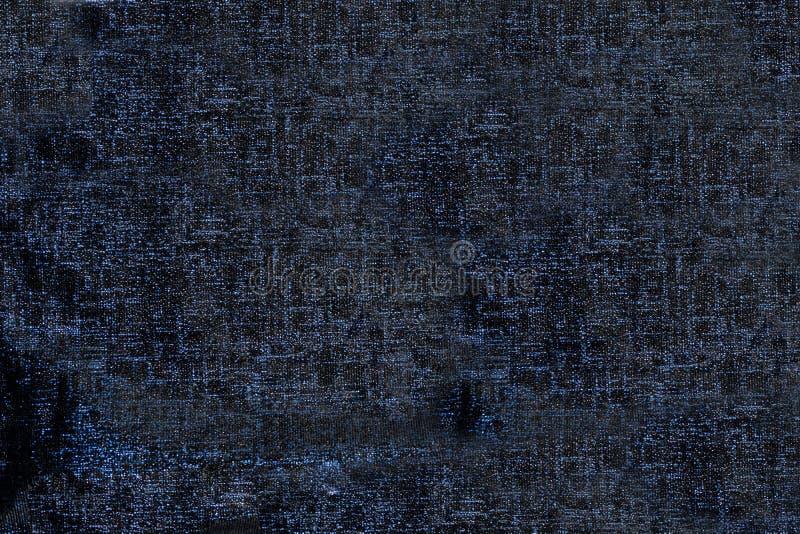 Textursvart-och-blått tyg royaltyfri foto