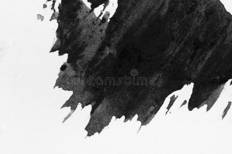 Textuur abstracte achtergrond zwart-witte inktstijl, stock fotografie