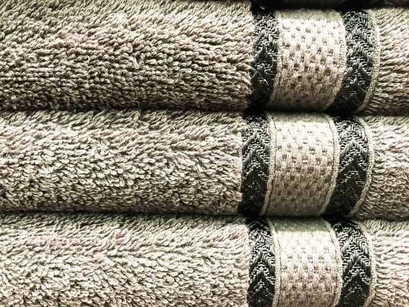 Textuur, achtergrond van badstofhanddoeken royalty-vrije stock afbeelding