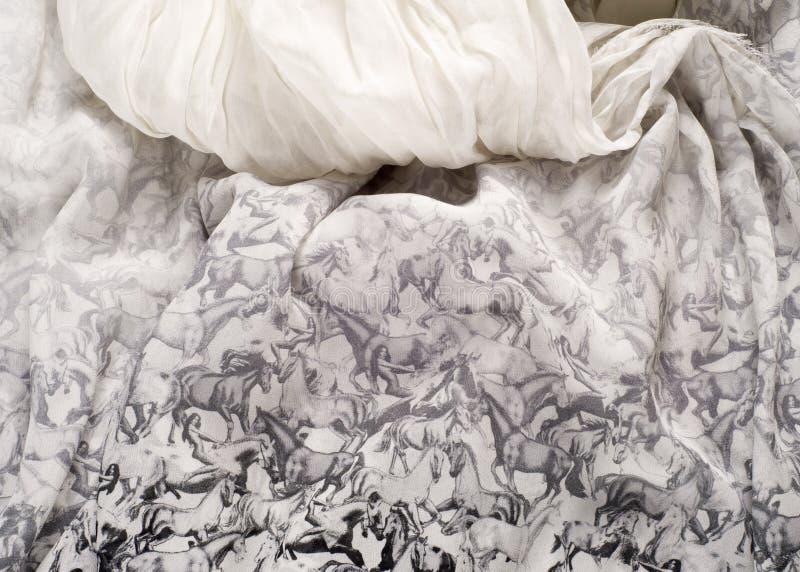Textuur, achtergrond Vrouwen` s rok Cijferpaarden royalty-vrije stock fotografie