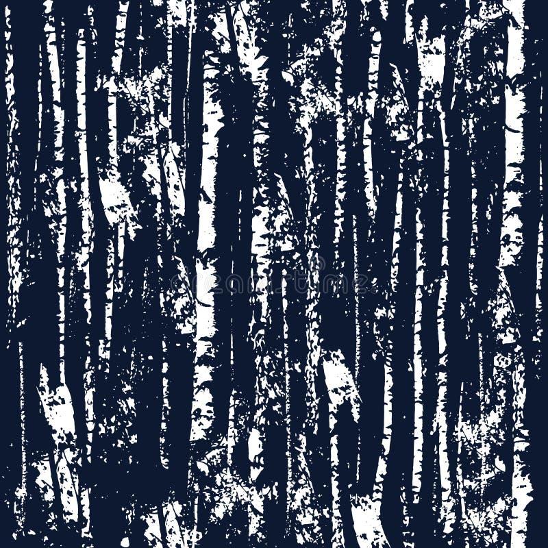 Textuur bos naadloos patroon stock illustratie