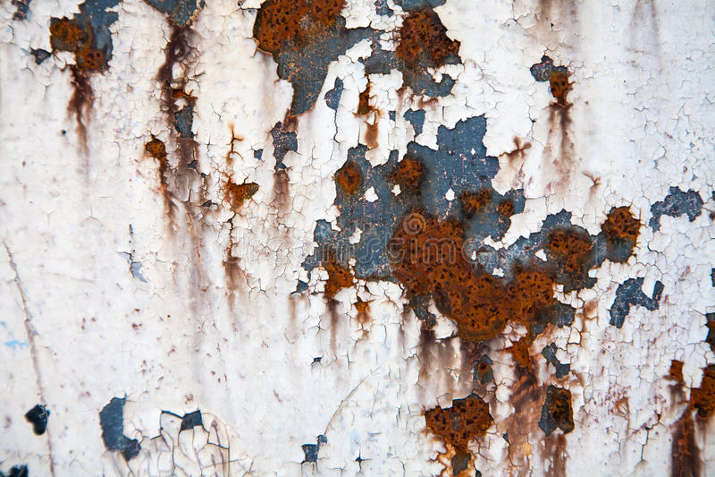 Textuur of de achtergrond van het Grunge retro roestige metaal stock afbeelding