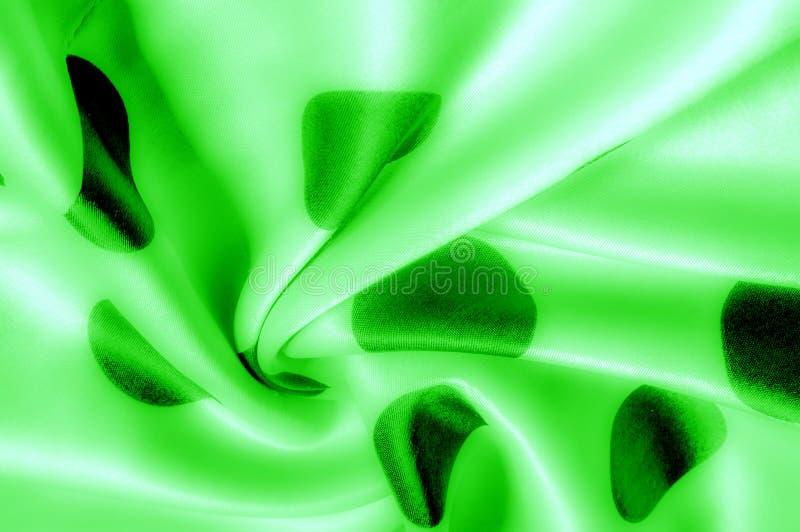 Textuur De stof van de zijde Polina Polka Green, smaragd, salade, dit s royalty-vrije stock fotografie