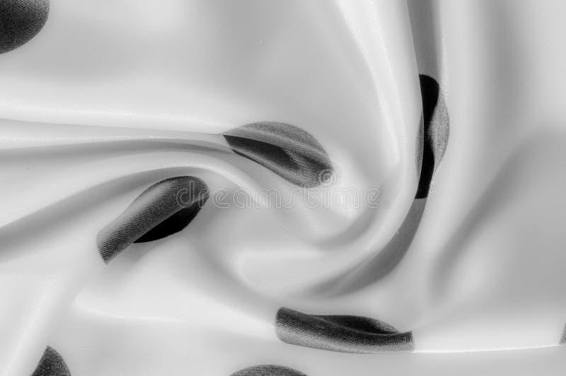Textuur De stof van de zijde Polka Grijze kleur, staal, zilver Sierlijke po royalty-vrije stock afbeeldingen