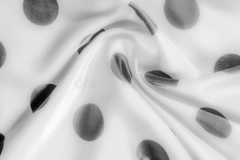 Textuur De stof van de zijde Polka Grijze kleur, staal, zilver Sierlijke po royalty-vrije stock afbeelding