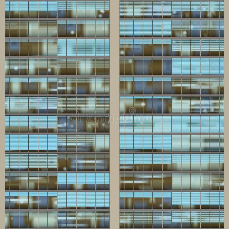 Textuur die wolkenkrabber op vensters lijkt stock foto