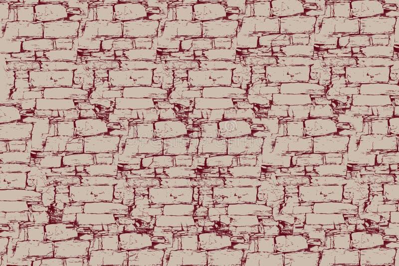 Textuur, document, samenvatting, roze, geweven muur, patroon, rood, grunge, bruine wijnoogst, retro behang, verf, verouderde acht vector illustratie