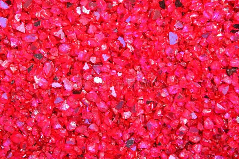 Textuur en Achtergrond van rode kiezelstenen stock foto