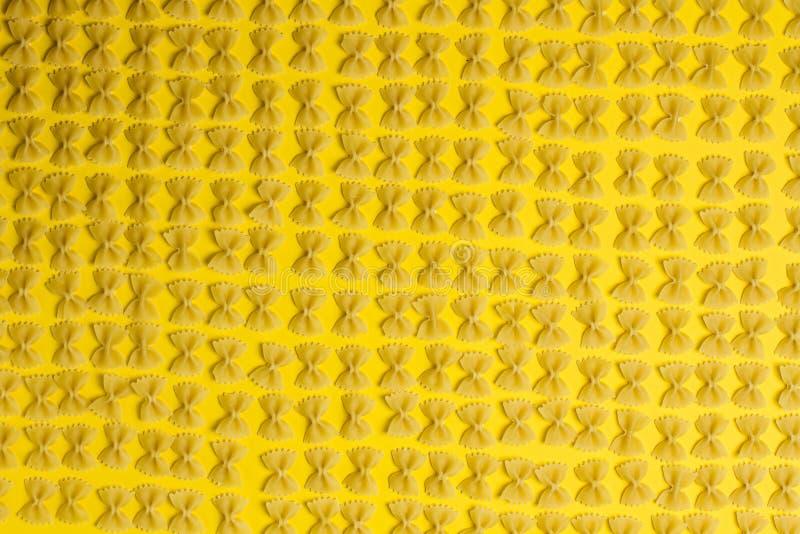 Textuur farfalle Deegwaren royalty-vrije stock fotografie