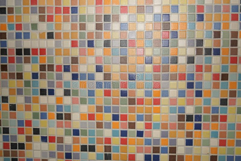 Textuur gekleurd mozaïek stock afbeelding