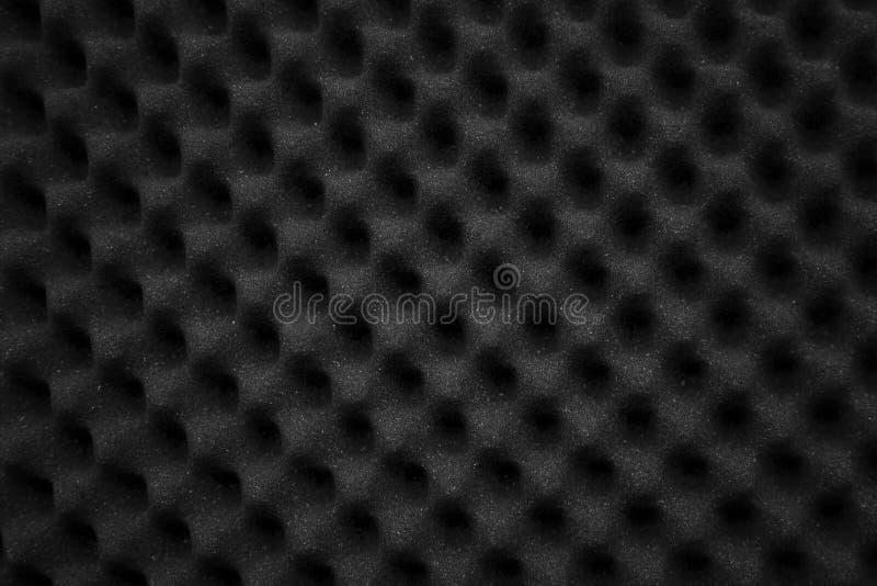 Textuur geluiddicht paneel van polyurethaanschuim Abstracte zwarte rubberschuimachtergrond stock foto's