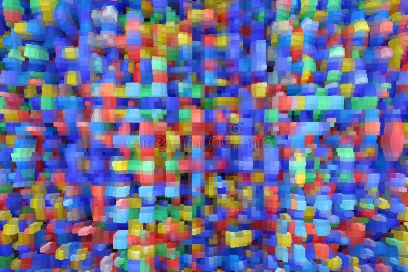 Textuur met kleurenabstracties Creatieve samenvatting gevormde achtergrond stock illustratie