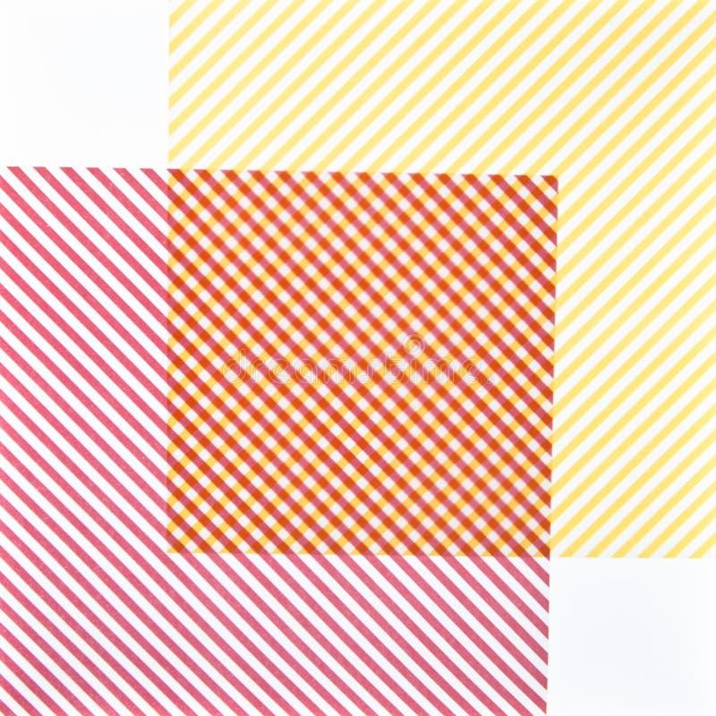 Textuur met rode en gele kaarten royalty-vrije illustratie