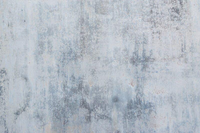 Textuur oud lichtgrijs metaal met roest, stock afbeelding